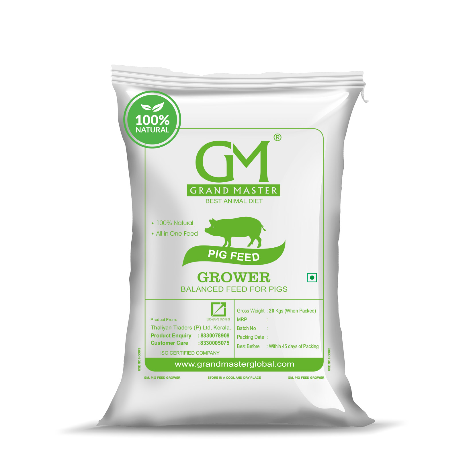 Grower and finisher feed for pig